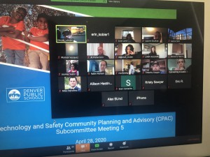 Members discuss funding priorities during a Technology and Safety subcommittee Zoom meeting in April 2020