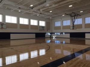 The new bond-funded gymnasium addition at University Prep- Steele St.
